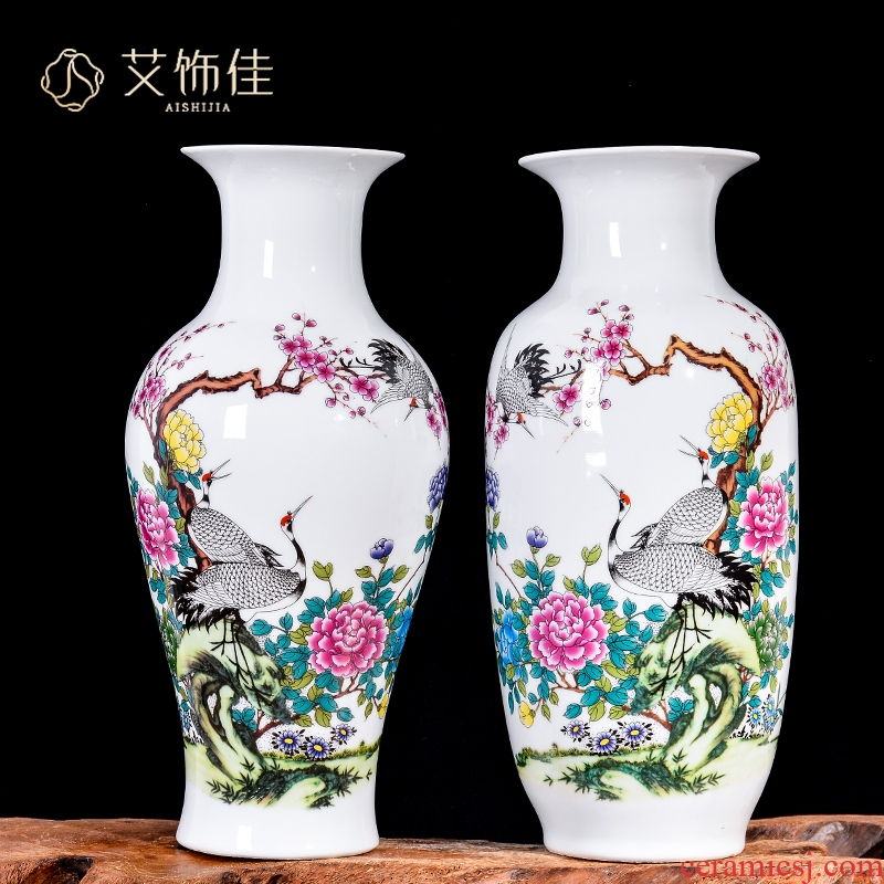 Jingdezhen ceramic vases, flower arranging decoration of new Chinese style household, sitting room porch TV ark, rich ancient frame furnishing articles