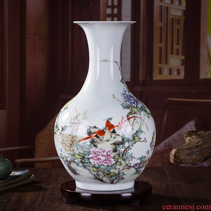 Jingdezhen ceramics floret bottle household act the role ofing is tasted furnishing articles furnishing articles flower arranging dried flowers sitting room adornment process appreciate each bottle