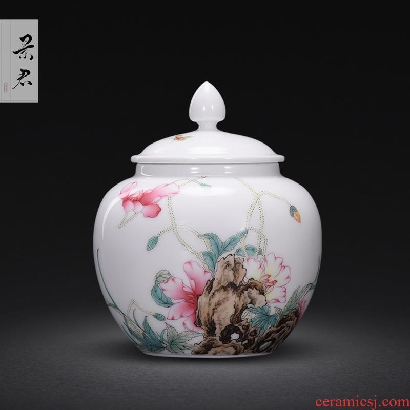 The Collection level of copy su fu the qing qianlong drive jingdezhen up enamel see corn poppy caddy fixings small POTS