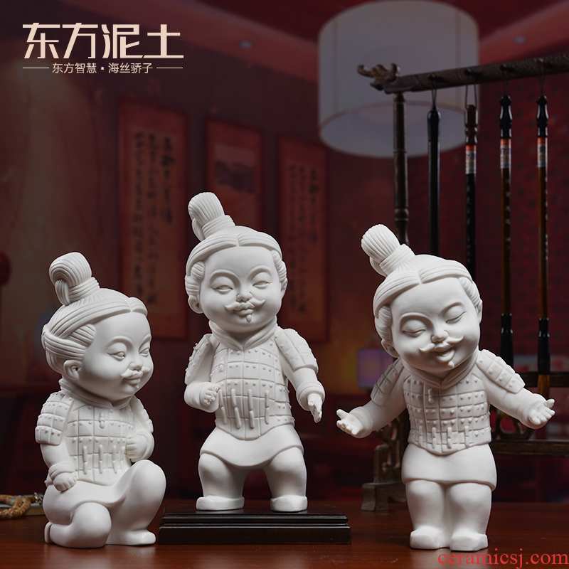 Oriental classical soil characters furnishing articles ceramic arts and crafts of new Chinese style household living room TV ark cabinet decoration