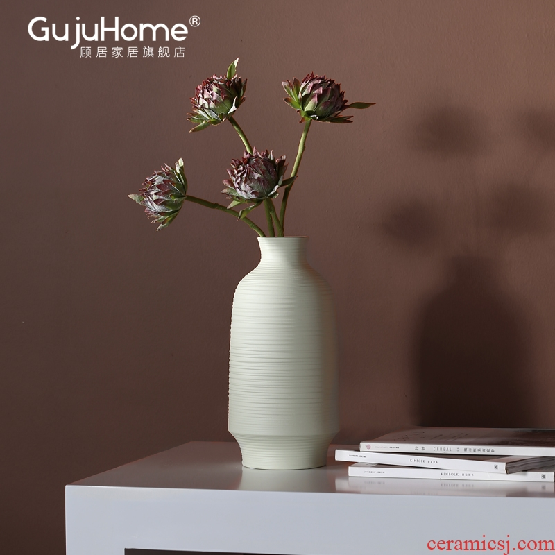 New Chinese style ceramic vases, flower arranging Nordic between example furnishing articles, the sitting room porch TV ark, soft light key-2 luxury decoration