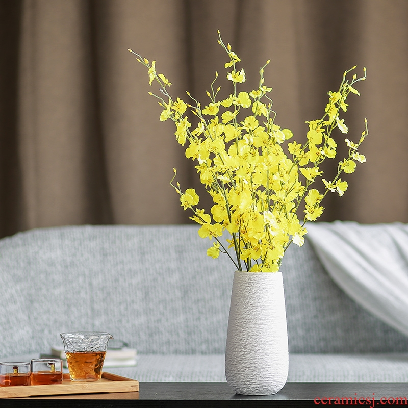 Nan sheng ins contracted simulation flower, dried flower adornment household act the role ofing is tasted ceramic vases, flower arranging flower implement mesa furnishing articles
