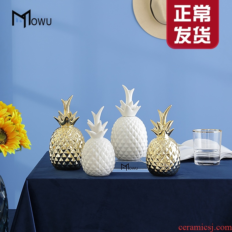 Nordic ins wind creative pineapple jar ceramic furnishing articles of children room decorate contracted sitting room, bedroom adornment