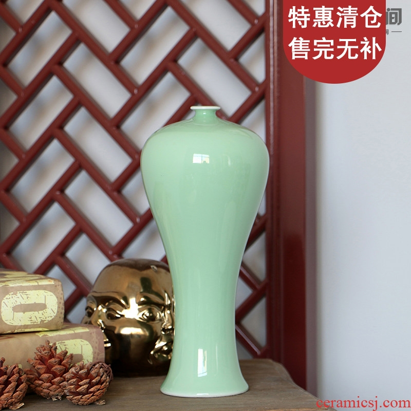 Jingdezhen classical shadow blue glaze pomegranate bottles of modern Chinese ceramic vases, flower receptacle mesa, home decoration gifts