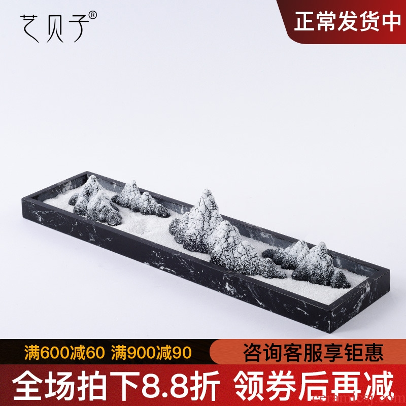 New Chinese style ceramic rockery furnishing articles creative arts living room TV cabinet example room hallway porch home decoration