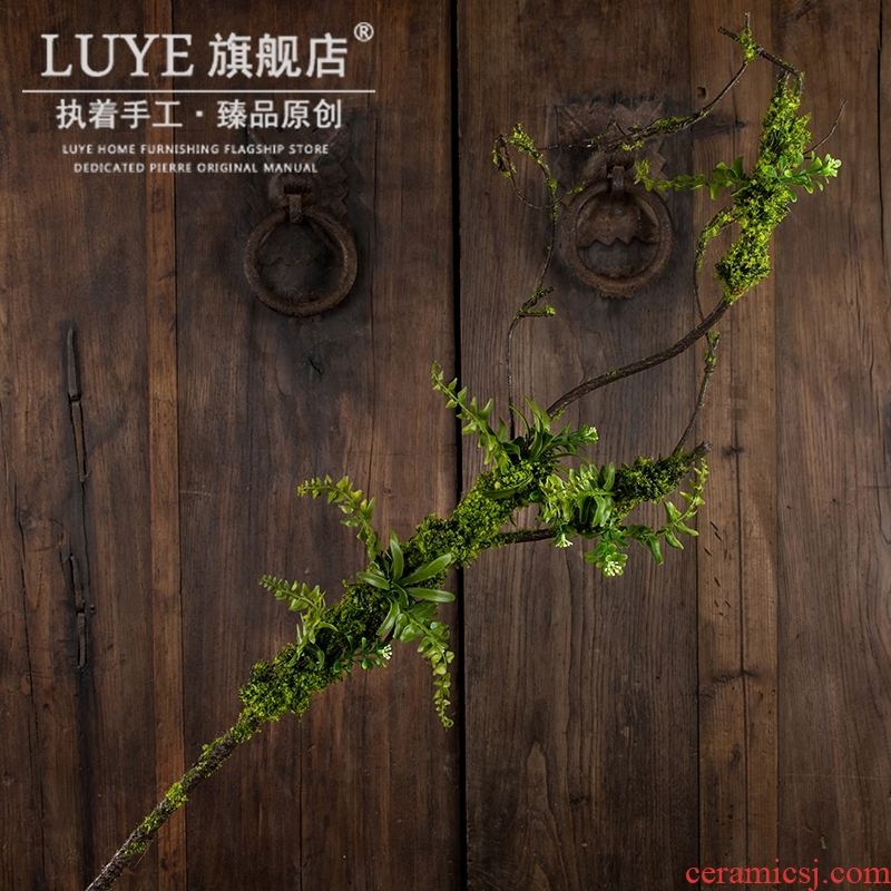 Mossy tree branches single simulation pottery flower silk flowers zen sitting room ground household flower arranging wedding decoration