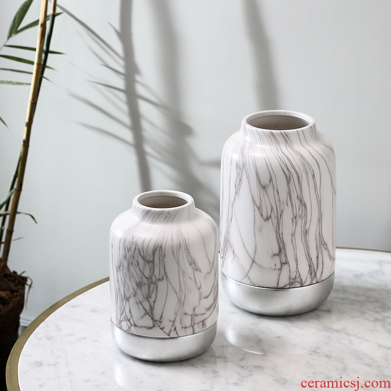 Marble Mosaic vases, new Chinese style furnishing articles creative porcelain decoration light and decoration design | BEST WEST