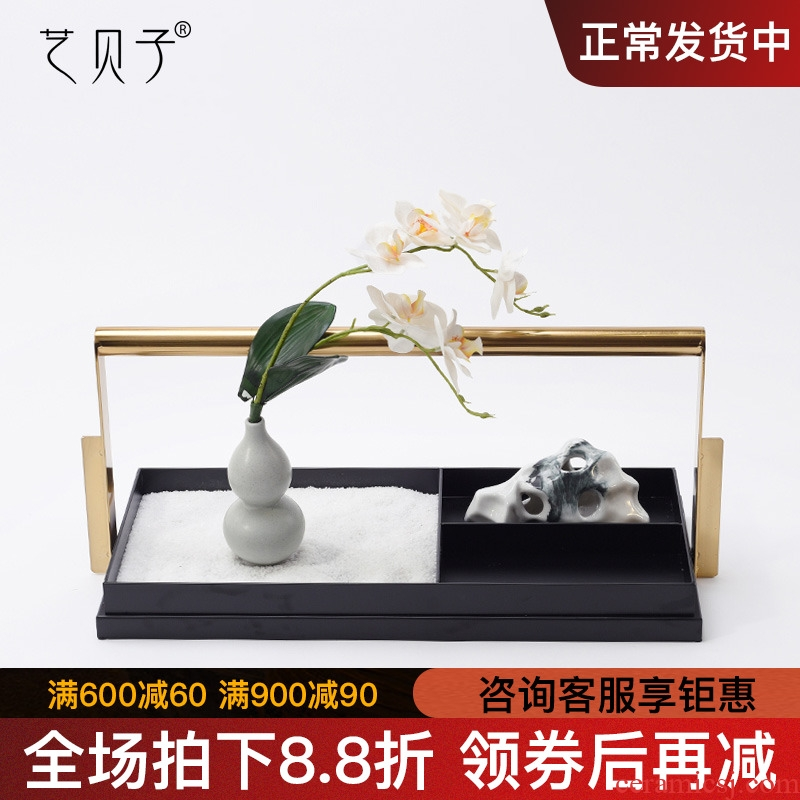 New Chinese style hand DiHe ceramic vase furnishing articles show shelf creative soft adornment of the sitting room porch decoration