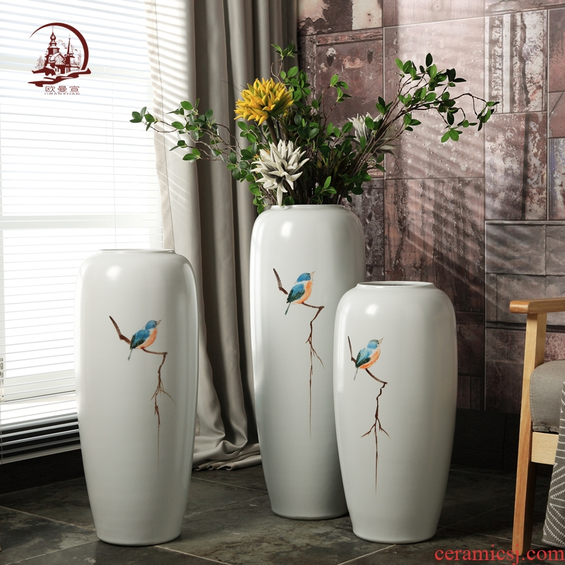 Jingdezhen ceramic vase landing sitting room of I and contracted household TV ark, show porch is decorated furnishing articles