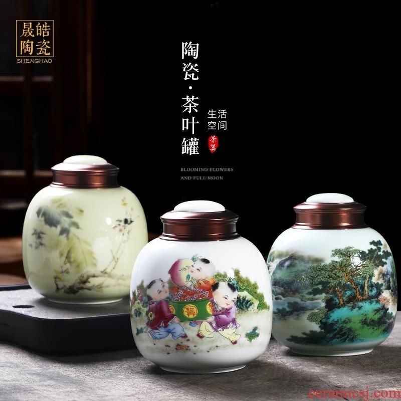 Jingdezhen ceramics caddy fixings storage tank practical moistureproof mildew multi - functional storage tank decorative home furnishing articles