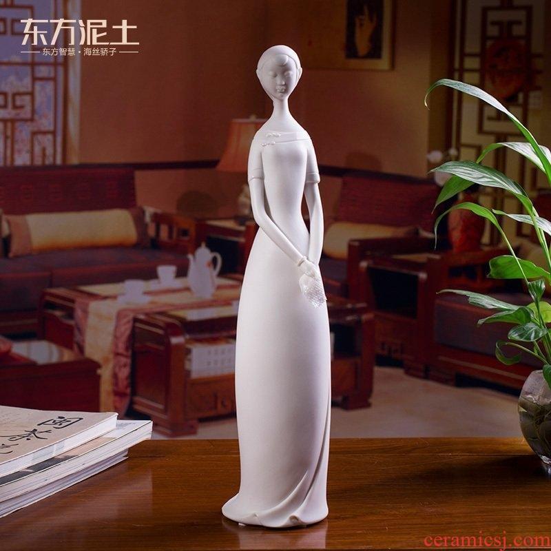 Oriental clay ceramic designer bin - bin Lin its handicraft furnishing articles after 80/cool breeze moon D46-07