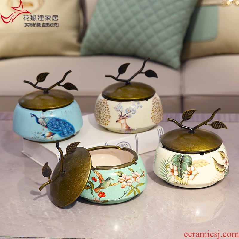 American country with cover the ashtray creative ceramic European sitting room tea table to restore ancient ways jewelry boxes decorative furnishing articles