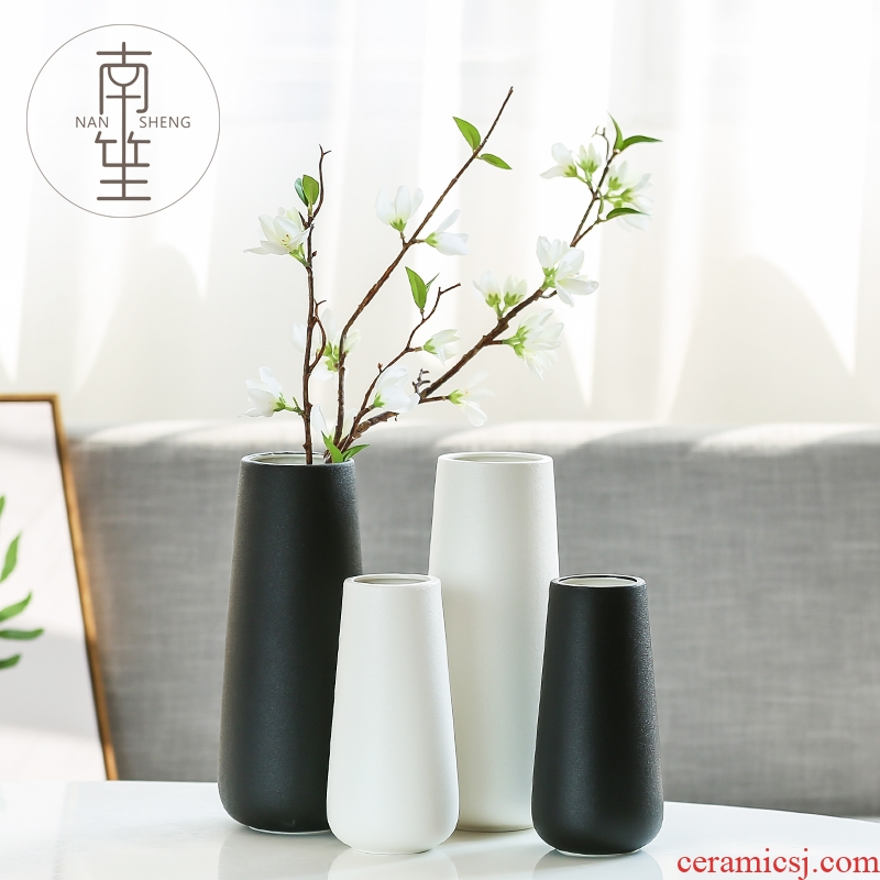 Nan sheng household act the role ofing is tasted simulation flower, dried flower ceramic vase Nordic mesa of I and contracted sitting room place decoration