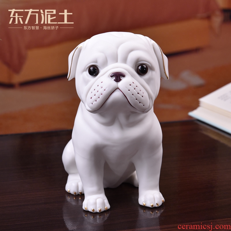Oriental clay ceramic starling dog dog desktop decoration gifts furnishing articles furnishing articles creative home sitting room study