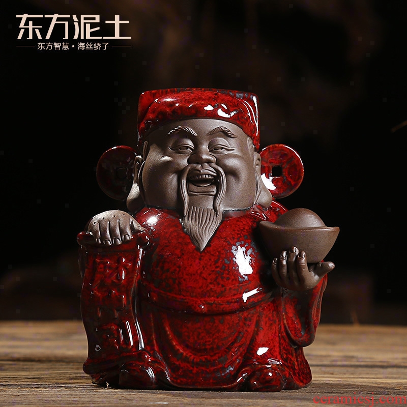 Oriental clay ceramic household wealth lucky place, Chinese style living room and office decoration/desktop