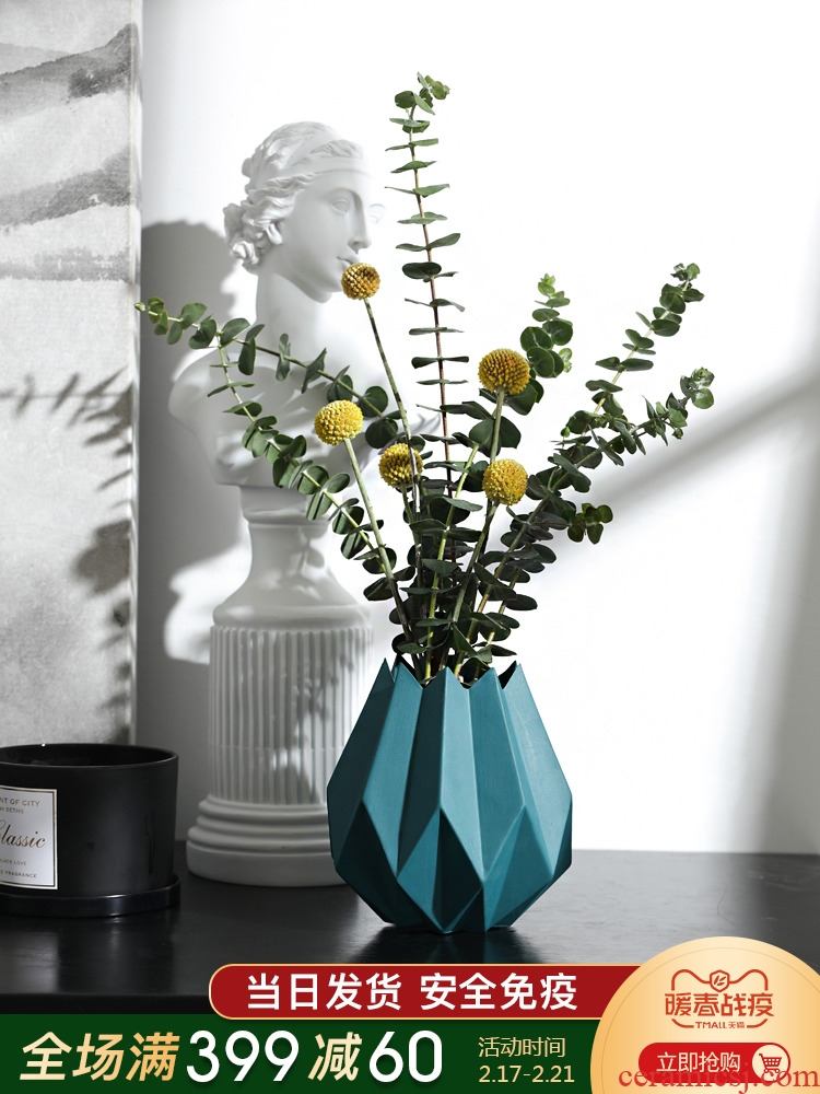 The Nordic ins wind ceramic furnishing articles sitting room porch table vase vase dried flower decoration home decoration