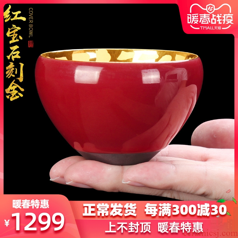Artisan fairy 24 k gold cup built one masters cup ceramic household manual kung fu tea sample tea cup single cup size