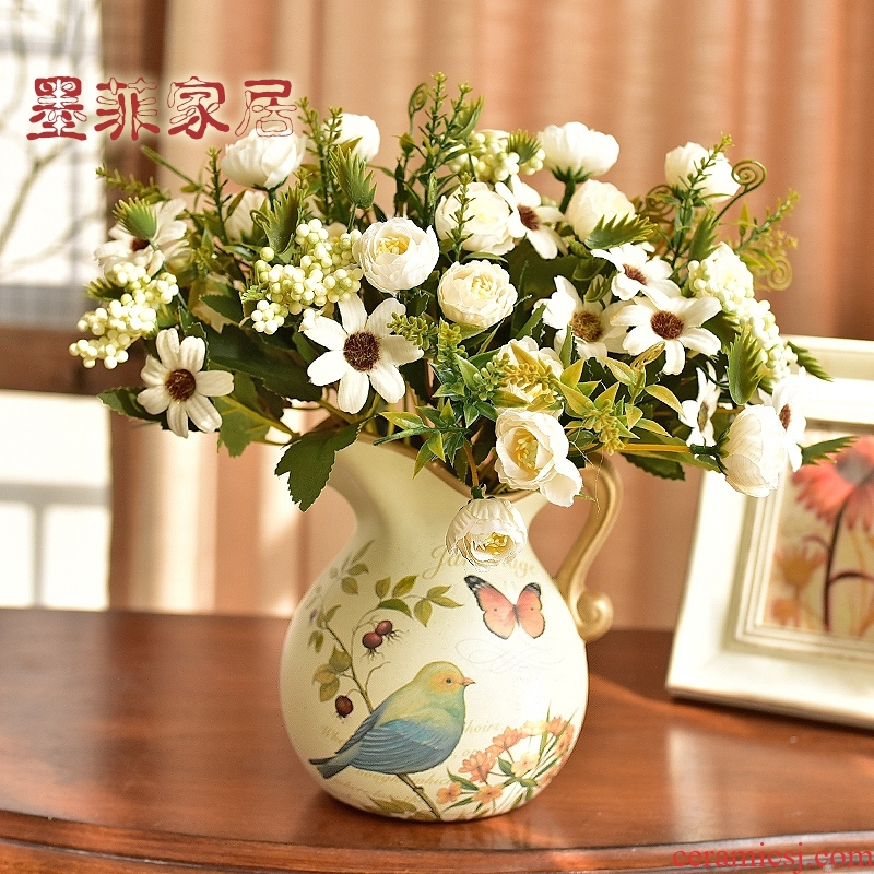 Ceramic furnishing articles artical floret bottle of flower arrangement, the sitting room TV cabinet table wine home furnishing articles