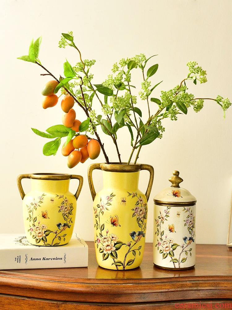 American household ceramics furnishing articles European table vases, flower arranging machine sitting room TV ark, wine porch decoration decoration