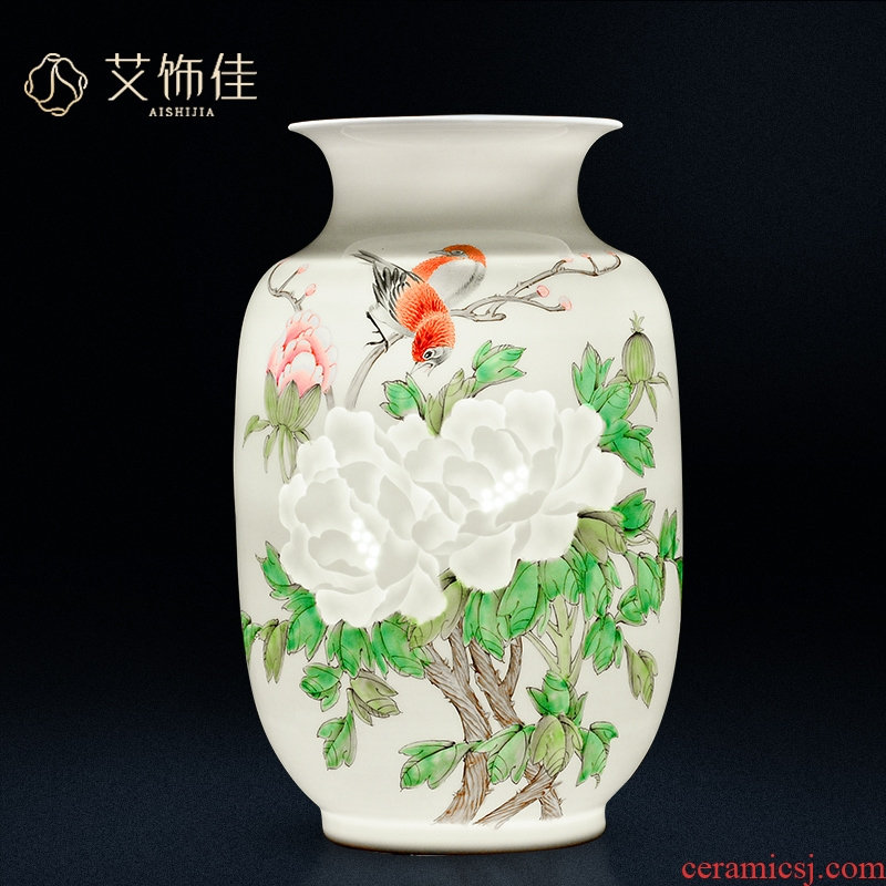 The Master of jingdezhen ceramics hand - made thin foetus knife clay vases, flower arranging new Chinese style living room place wedding gift