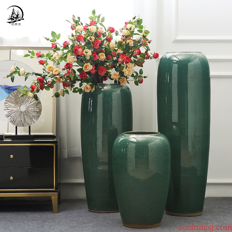 Europe type restoring ancient ways of large dry flower adornment furnishing articles ceramic vase in the sitting room porch decoration decoration between example
