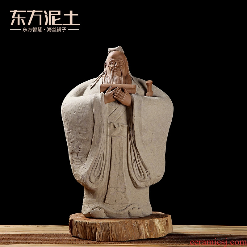 Oriental classical soil study office ceramic crafts are creative the teacher elder gifts/Confucius