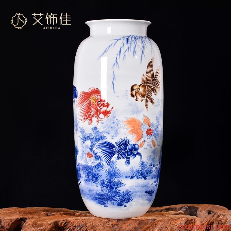 Jingdezhen ceramics Chinese hand - made vases and home sitting room porch TV ark adornment furnishing articles