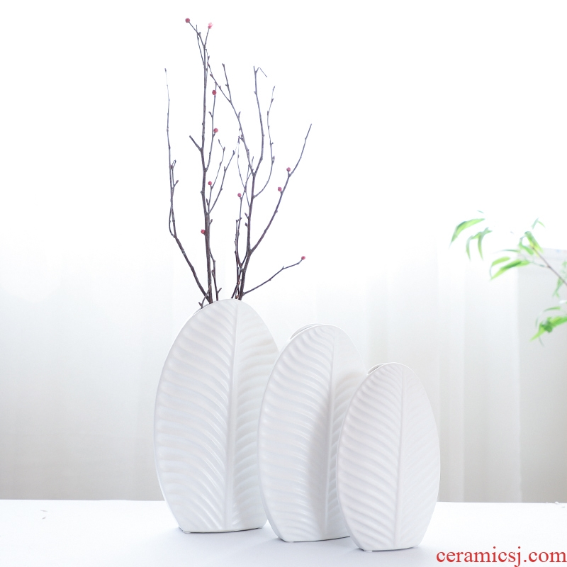 Nan sheng simulation flower, dried flower, flower implement Nordic mesa of I and contracted ceramic vase household act the role ofing is tasted furnishing articles ornaments
