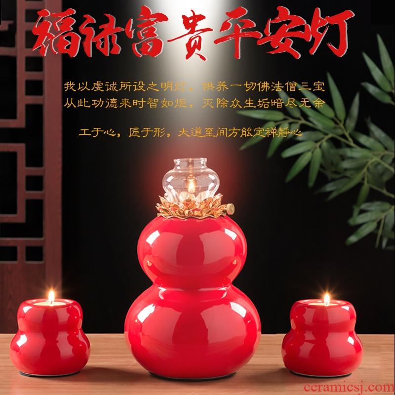 SuYouDeng ('m lamps a ceramic lamp Taoism GongDeng blessing light SuYouDeng for Buddha light household GongDeng before Buddha