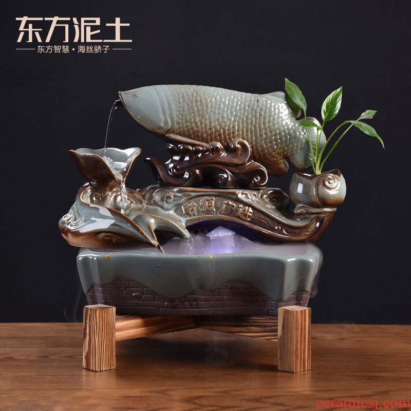East jinlong ruyi soil water apparatus furnishing articles high - grade creative ceramic version into gifts/treasures will be plentiful