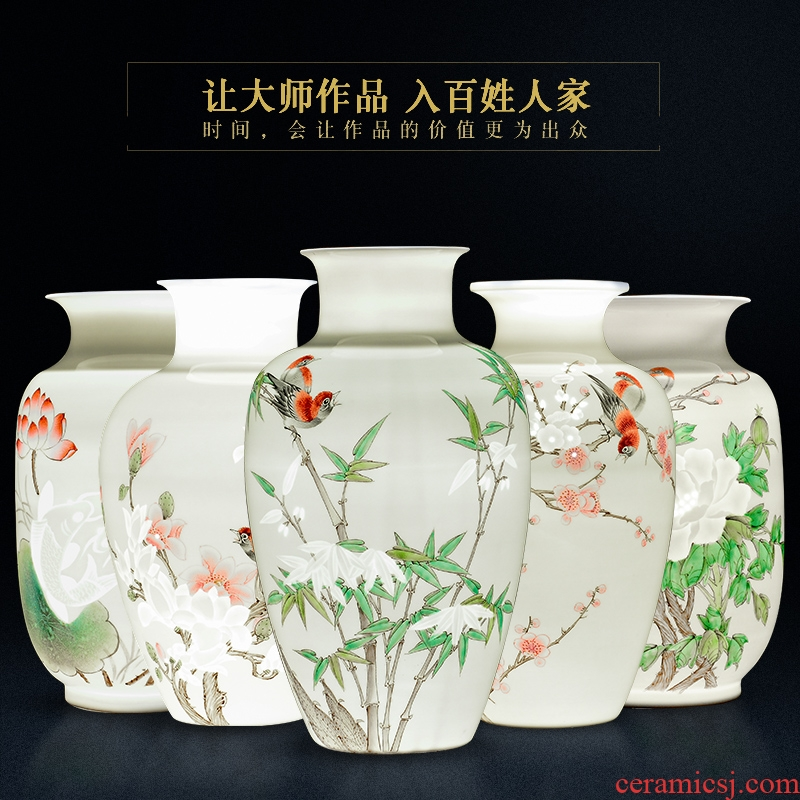Jingdezhen ceramics, vases, flower arranging famous hand - made the sitting room of Chinese style household decorations rich ancient frame crafts