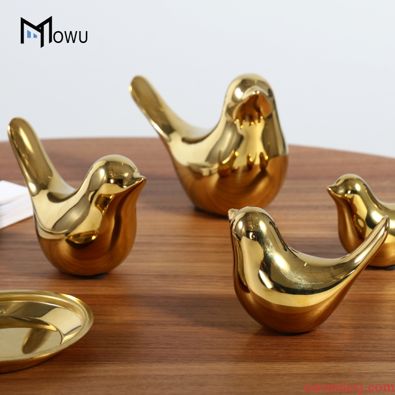 Light key-2 luxury furnishing articles Nordic creative ceramic bird example room sitting room wine ark of tea table soft outfit household adornment collocation