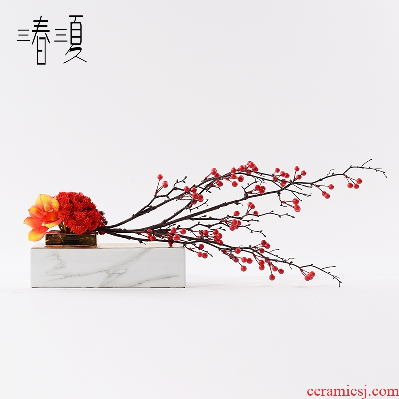 New Chinese style composite ceramic furnishing articles the soft adornment example room porch eat edge sitting room ark, floor floral arrangements