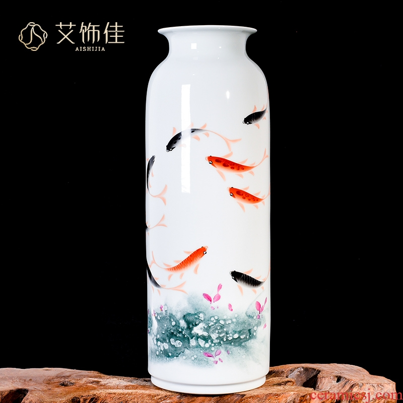 Jingdezhen ceramic vase sitting room adornment hand - made more new Chinese style household adornment TV ark, furnishing articles every year