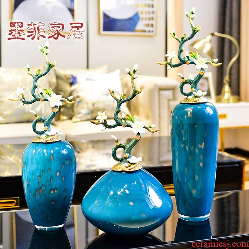 Enamel high - end key-2 luxury furnishing articles household act the role ofing is tasted great vase example room sitting room Enamel porcelain decoration art ornaments