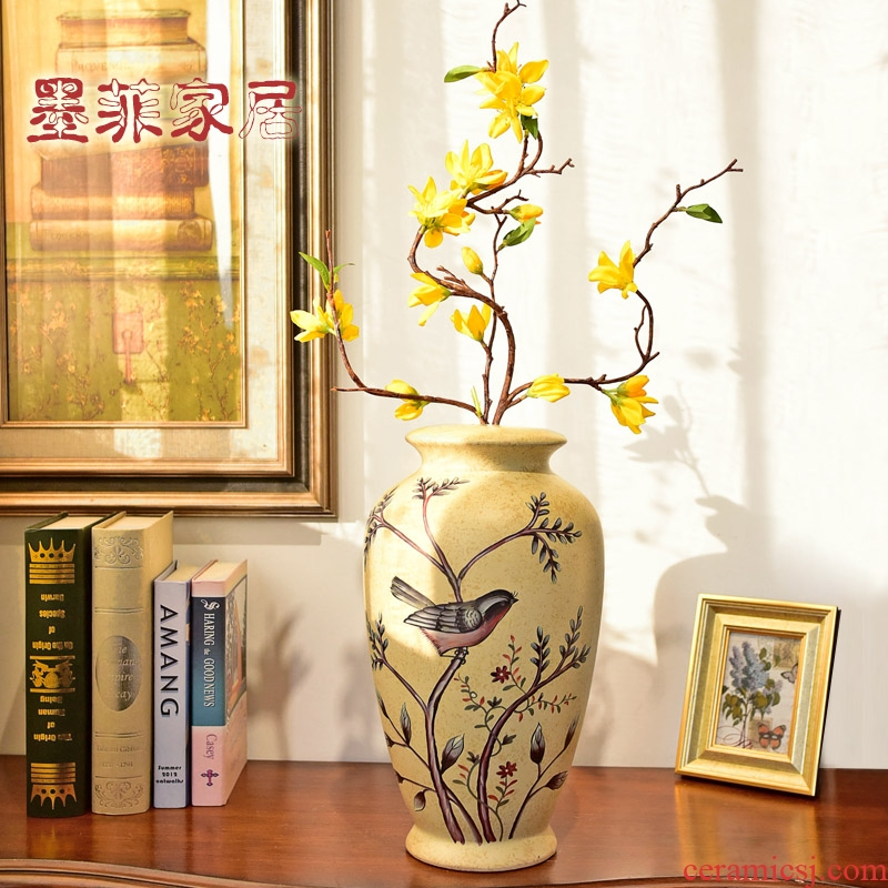 American TV cabinet ceramic vases, decorative furnishing articles European - style restoring ancient ways the sitting room porch household decoration decoration arranging flowers