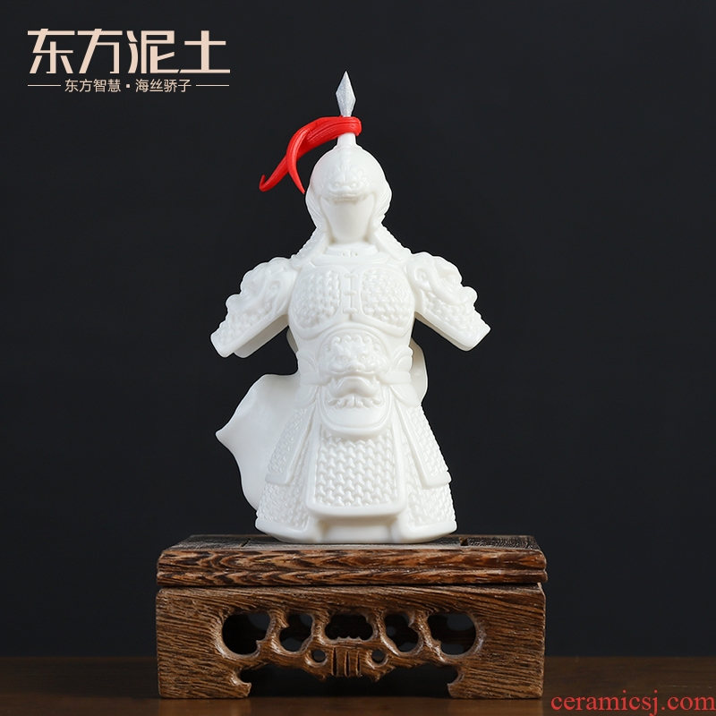 Oriental ancient clay ceramic blessing general furnishing articles armor office desktop rich ancient frame little sitting room adornment