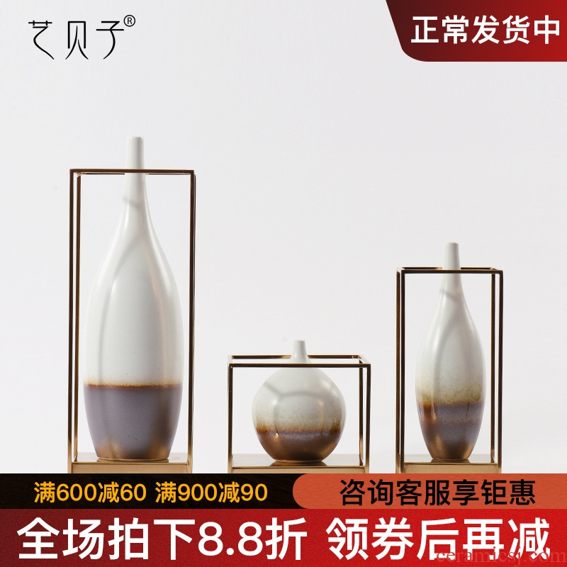 New Chinese style home furnishing articles sitting room window flower implement household act the role ofing is tasted tea table desktop ceramic vases, soft outfit decoration