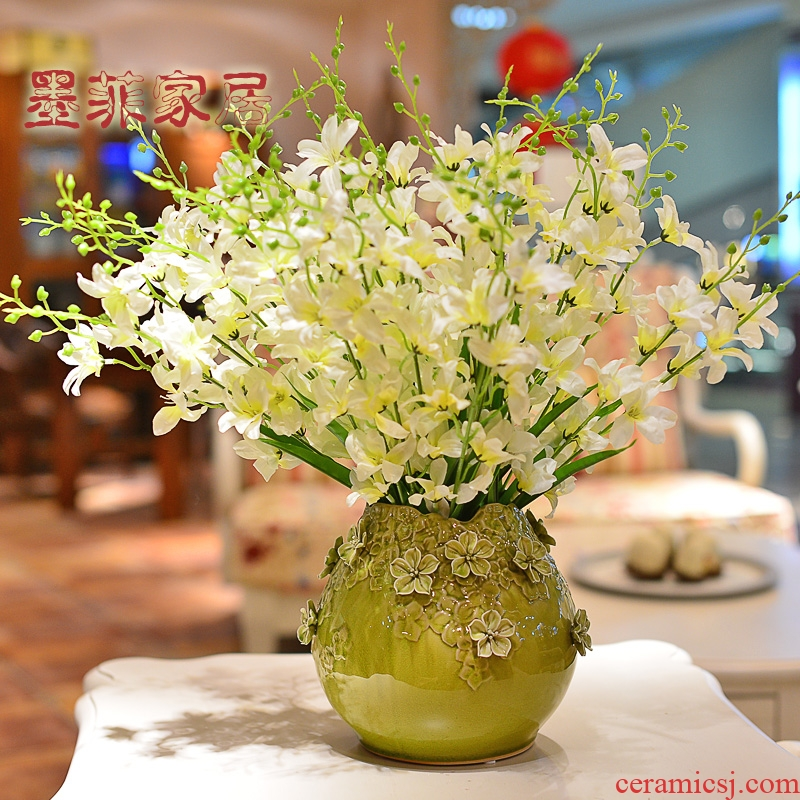 Checking out ceramic vase furnishing articles Nordic creative contracted sitting room TV cabinet table decorations simulation flower flower