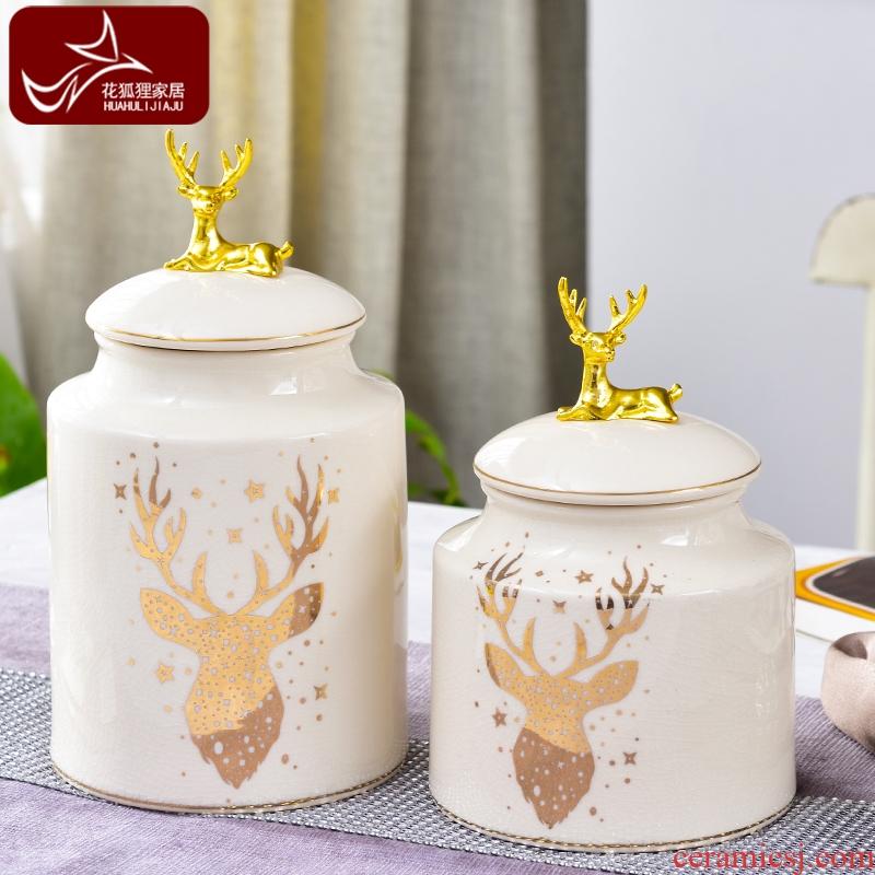 Modern European light much creative ceramic snack storage tank northern American sitting room porch receive decorative furnishing articles