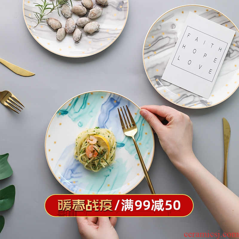 Island house in setting the color creative ceramic tableware household dish dish dish steak to eat western food dish bowl A - 20
