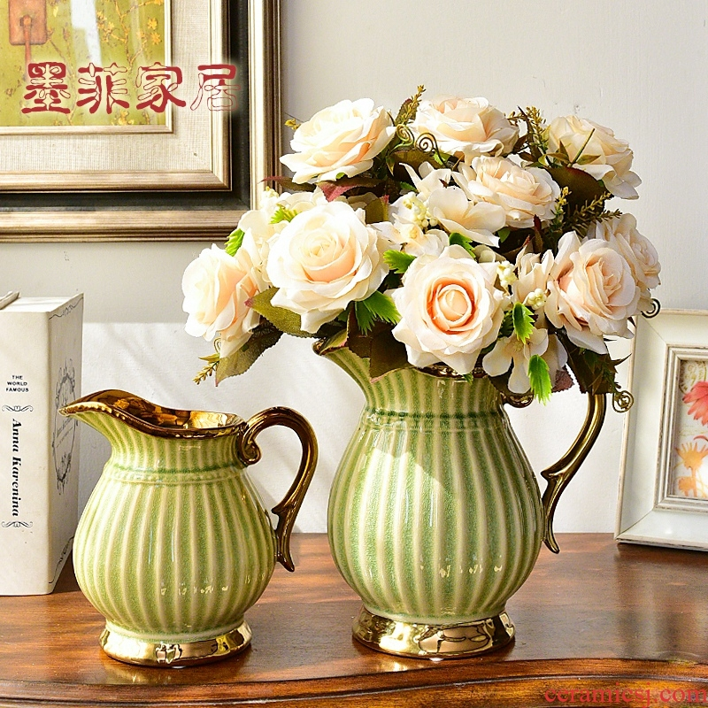 American light European - style key-2 luxury ceramic vases, I and contracted sitting room tea table table flower art flower arranging, adornment is placed