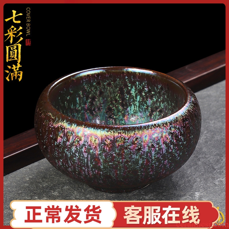 Artisan fairy folk up built red glaze, the famous checking ceramic cups kung fu tea master cup single CPU