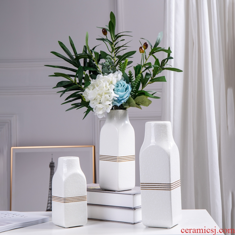 Nordic creative home, ceramic vases, I and contracted sitting room porch table flower arranging flower, adornment is placed