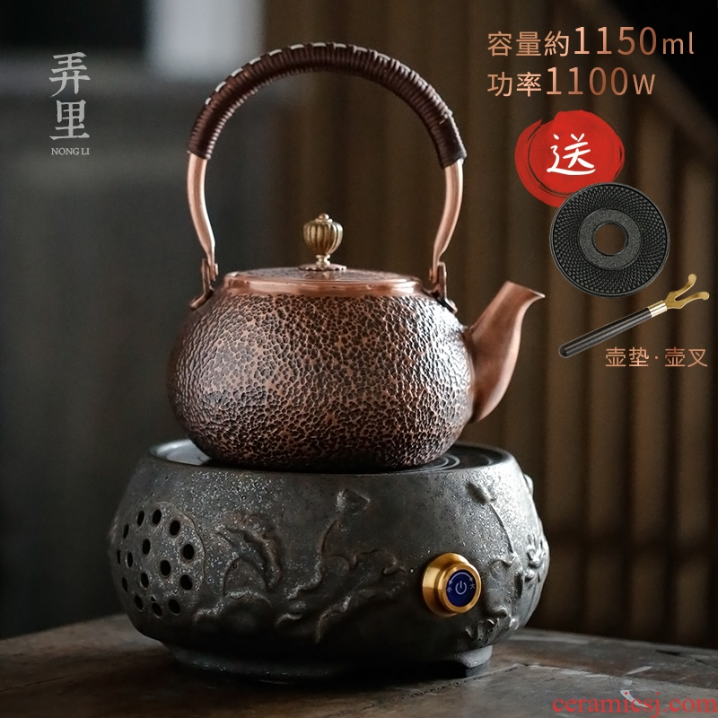 The Get | boiled tea ware plates kettle in restoring ancient ways large plates by hand kung fu tea kettle TaoLu household electricity