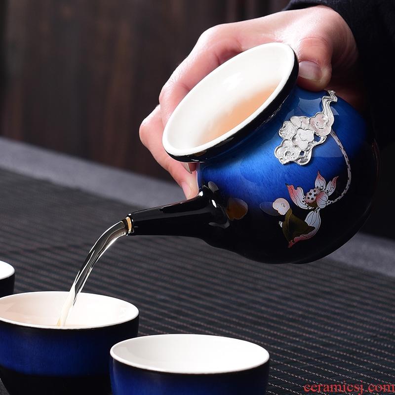A good laugh with silver sapphire blue kung fu tea set fair keller creative ji blue sea ceramic tea is tea tasted silver gilding points