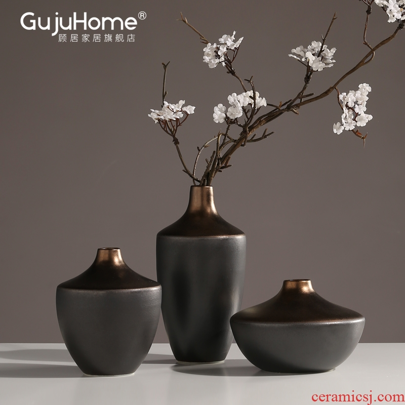New Chinese style ceramic vases, flower arrangement suits for furnishing articles, the sitting room porch restaurant light household soft adornment ornament and decoration