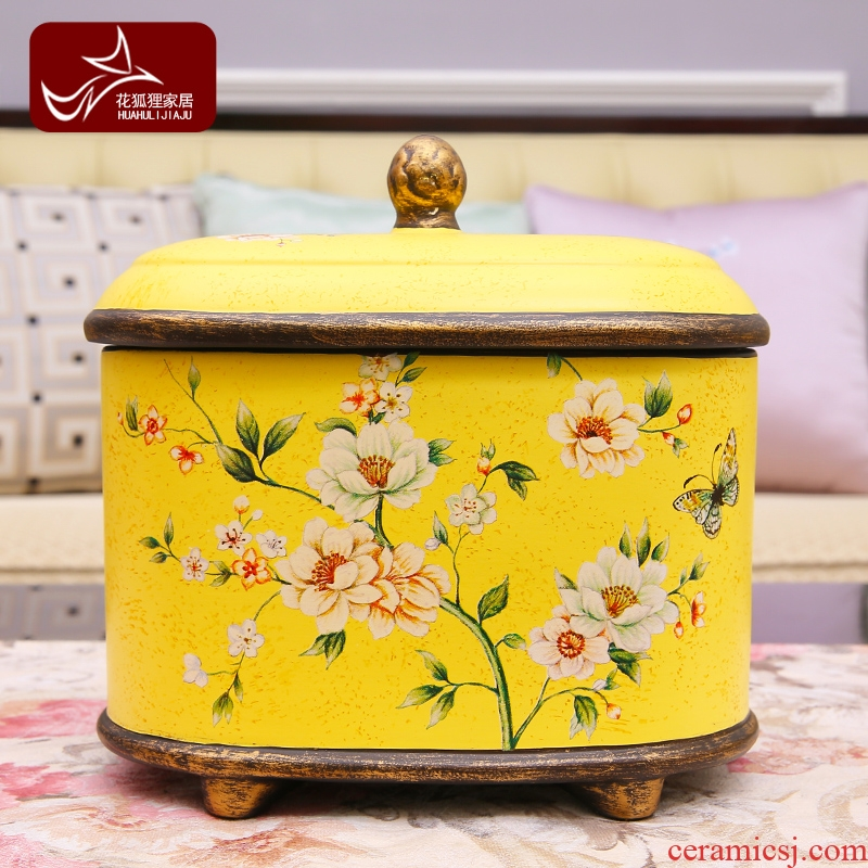 American creative ceramic wine storage tank furnishing articles household act the role ofing is tasted European the sitting room porch decorate the receive candy jar