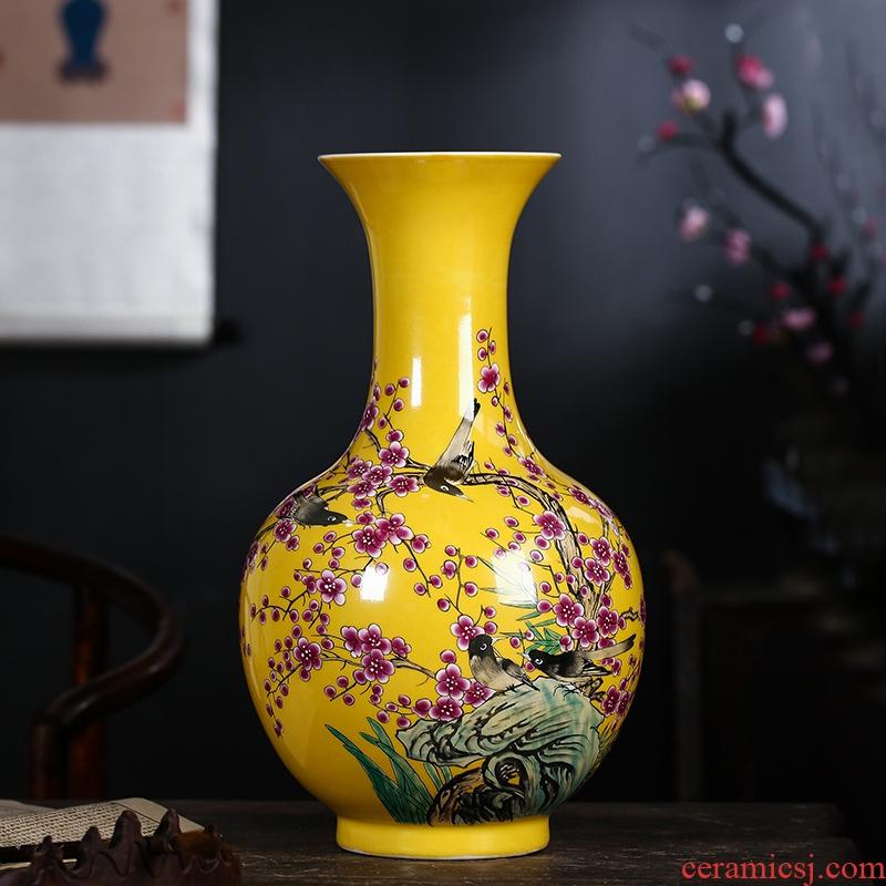 Jingdezhen ceramics glaze crystal floret bottle home furnishing articles dried flower arranging flowers, Chinese style living room TV cabinet