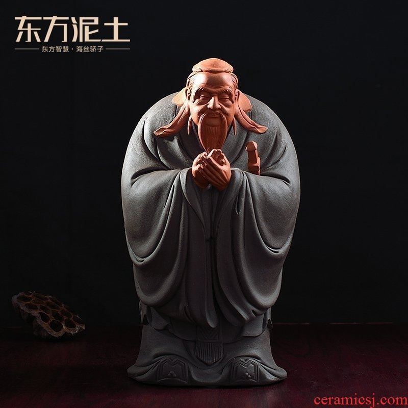 Oriental clay ceramic Confucius furnishing articles its craft supplies creative study elder head festival gift